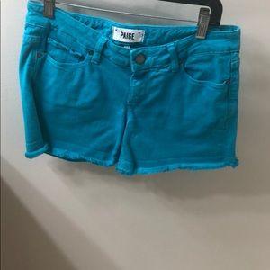 Paige denim electric blue shorts